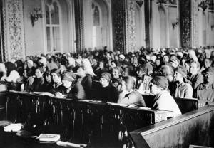 На первом съезде женщин-работниц в Кремле, 1927.