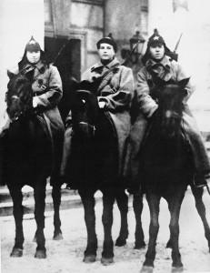 Красноармейцы, 1920-ые годы.