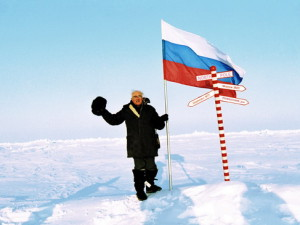 Семен Аронович Майстерман на Северном полюсе, 2005 год